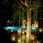 event lanterns at Villa Gamberaia