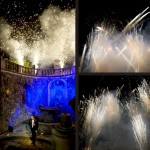 fireworks display at Tuscan wedding
