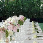 wedding table setting villa Gamberaia