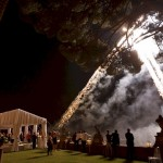 wedding fireworks at Villa Gamberaia