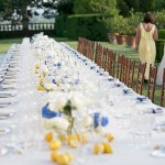 wedding table setting Tuscany