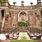 wedding ceremony venue at Villa Gamberaia in Tuscany